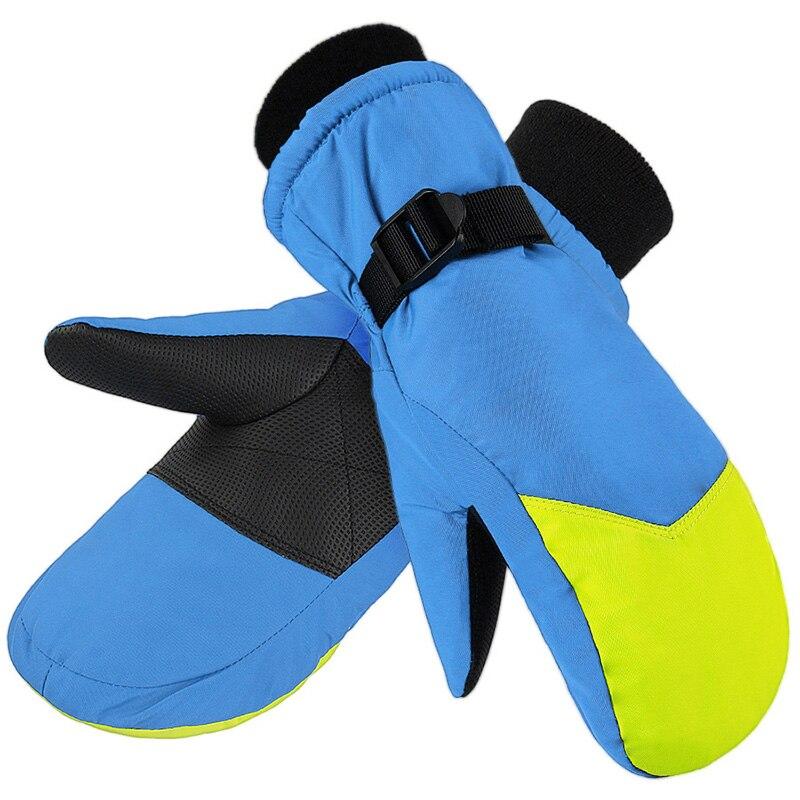Водонепроницаемые Детские перчатки для катания на лыжах и сноуборде, уличные теплые перчатки для велоспорта, скалолазания, варежки для сне...