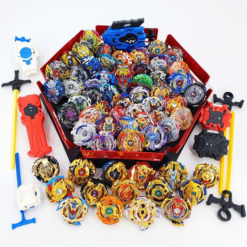 Tops Set Launchers Beyblade Arena Spinning Top Metal Fight Bey Blade Metal Burst Bayblade Stadium Children Gifts Classic Toy