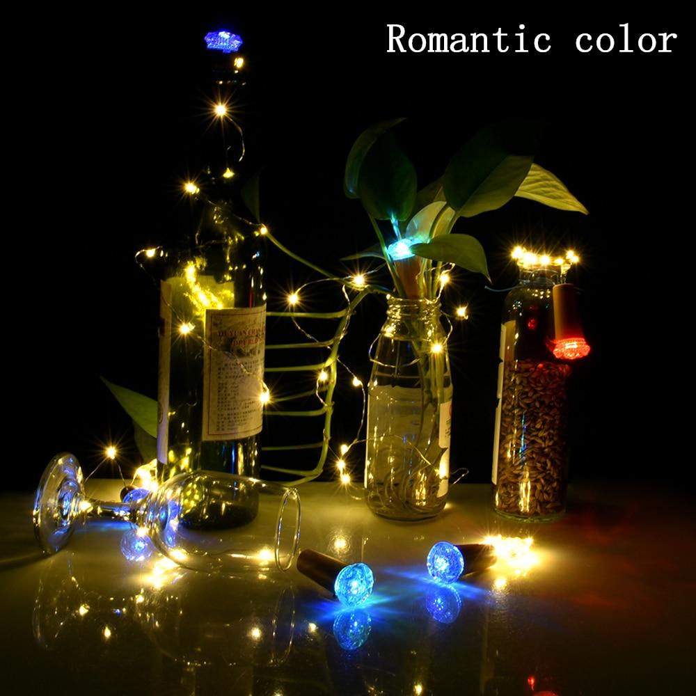 Image 2 - יין בקבוק אור פקק צורת חיצוני גרלנד led מחרוזת אורות חתונת קישוט פיית אור חג המולד אספקת עבור בית גןמחרוזות תאורה   -
