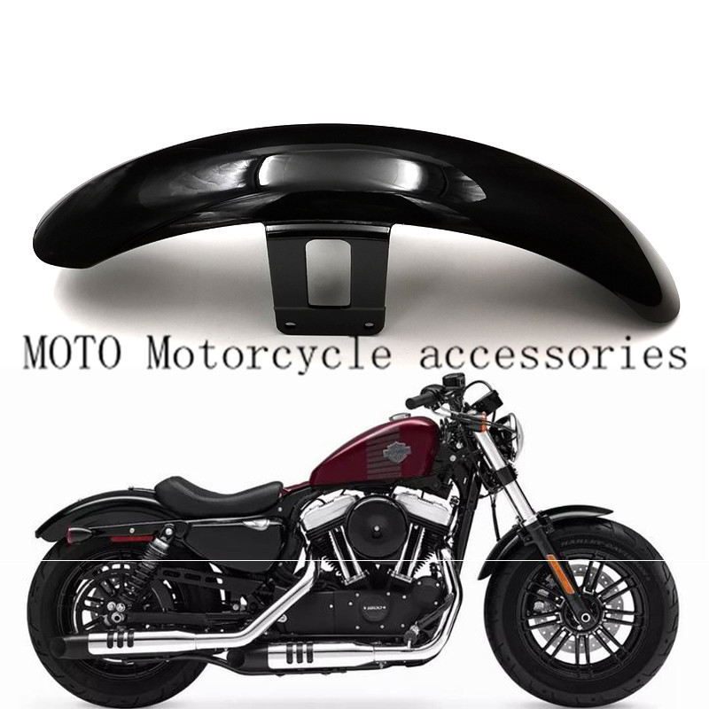 Motorcycle Front Mudguard Wheel Fender Cover For Harley Sportsters XL883 XL1200 N R L X48 72 Glossy Black