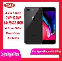 Usado apple iphone 8 iphone 8 plus telefones celulares original desbloqueado 4.7/5.5 ips ips celular 64/256gb rom gsm wcdma smartphone