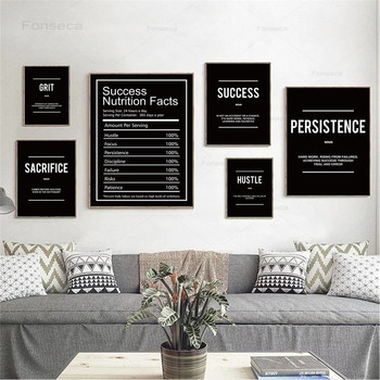 Grind Hustle Verb Execution Noun Motivational Posters Wall Art Canvas Print Inspiring Prints Inspirational Quotes Office Decor image