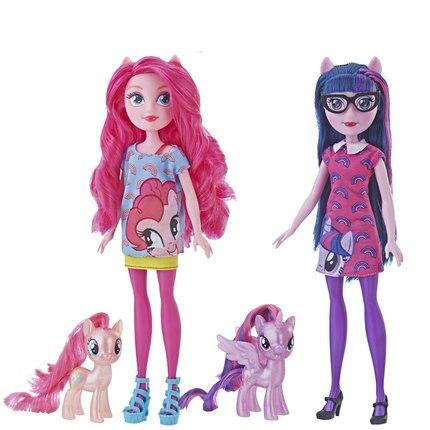 Original 2019 mon petit poney nouvelles poupées Pinkie Pie Action figurine ensemble equitation filles pour petit bébé cadeau d'anniversaire fille Bonecas - 4