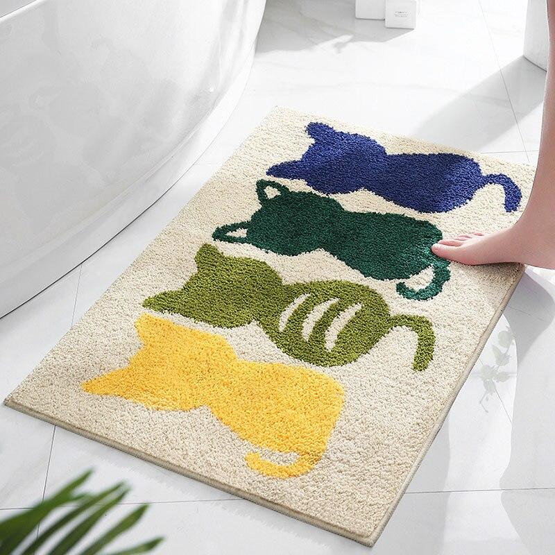 Cute Cat Anti-Slip Water Absorbent Mat