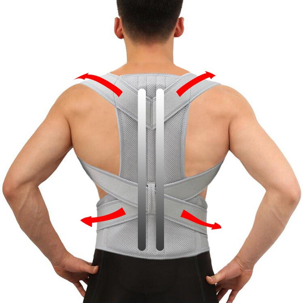 מתכוונן מתקן יציבה מותני חזור תמיכת Brace לנשימה התנהגות מחוך עבור עמוד השדרה חזרה אלונקה אורטופדי חזור