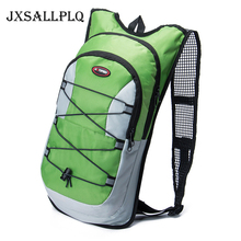 JXSALLPLQ 12L Outdoor Cycling Sports Backpack Folding Camping Climbing Bicycle 2L Water Bag Accessorie