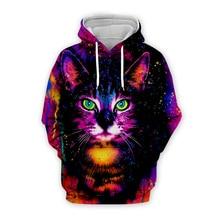 Galaxy cat art print Men 3d Hoodies Halloween Christmas Cosplay Sweatshirt tshirt zipper casual pullover women unisex Tracksuit цена и фото