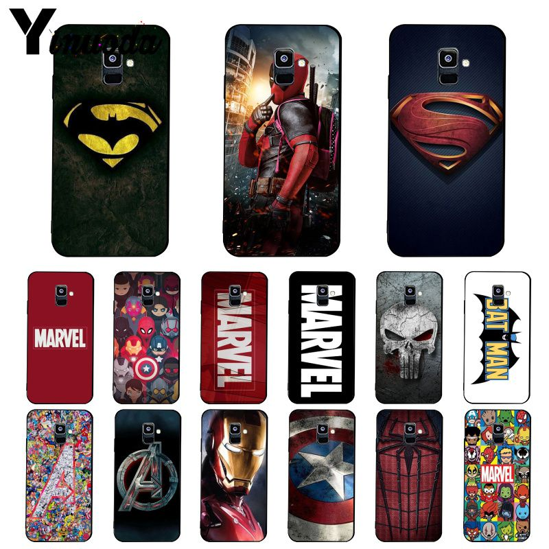 Yinuoda Deadpool Iron Man <font><b>Marvel</b></font> Avengers <font><b>Logo</b></font> Phone <font><b>Case</b></font> For <font><b>Samsung</b></font> <font><b>Galaxy</b></font> A7 A50 A70 A20 <font><b>A30</b></font> A40 A8 A6Plus A8Plus A9 2018 image