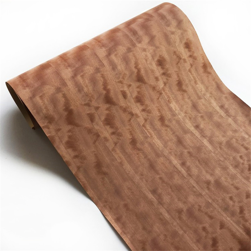 Integrate Natural Veneer Genuine Wood Fig Figuared Phoebe Decorative Splice Veneer For Furniture Backing Kraft Paper
