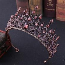FORSEVEN New Vintage Baroque Headbands Crystal Tiaras Crowns Bride Noiva Headpieces Bridal Wedding Party Hair Jewelry for Women