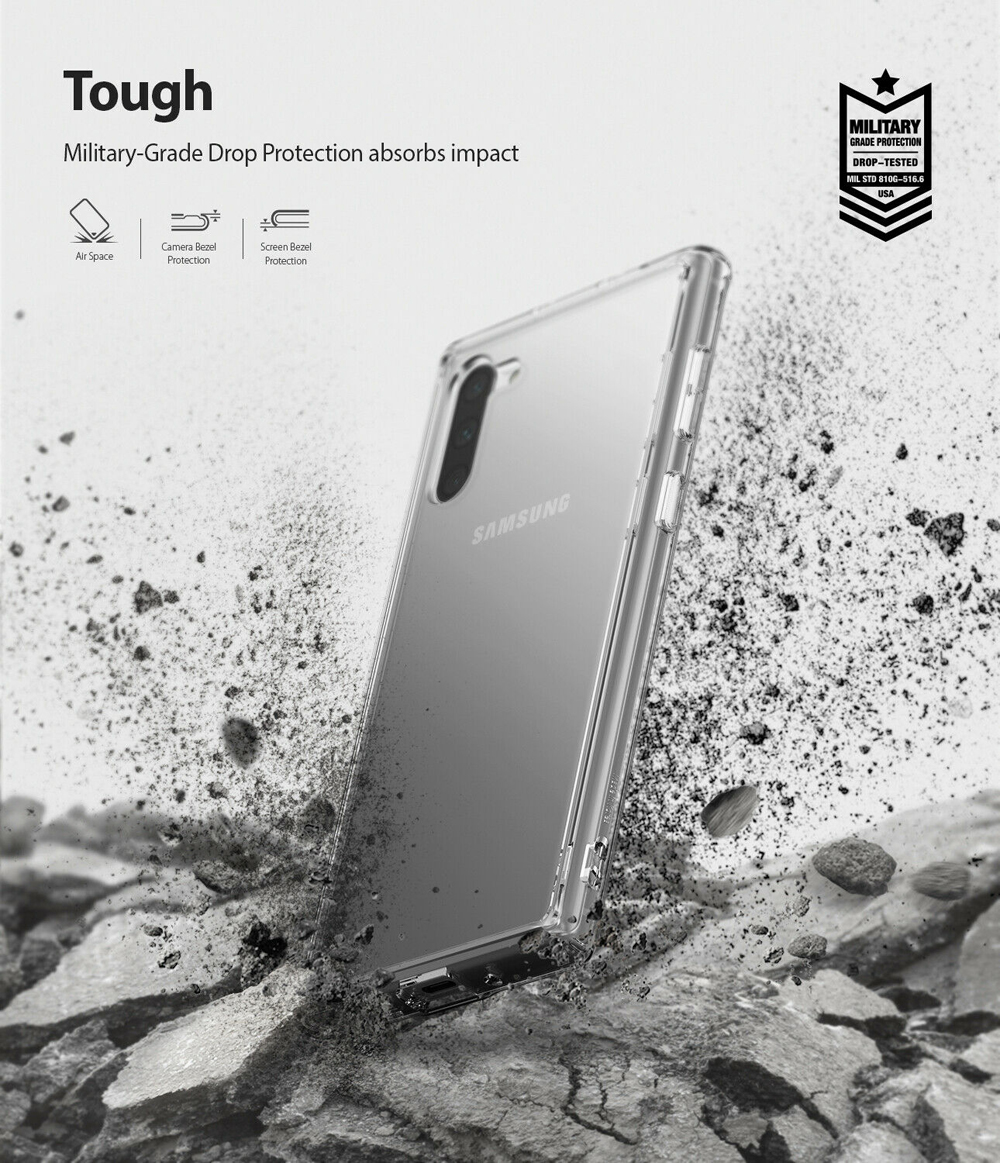 Electronics - Ringke Fusion X  for Galaxy Note 10 Plus Case  Shock Absorption Transparent