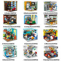 XINGBAO Genuine City Friends House Series The Home Furnishing And Future Dreams Sets Building Blocks Educational Bricks Juguetes