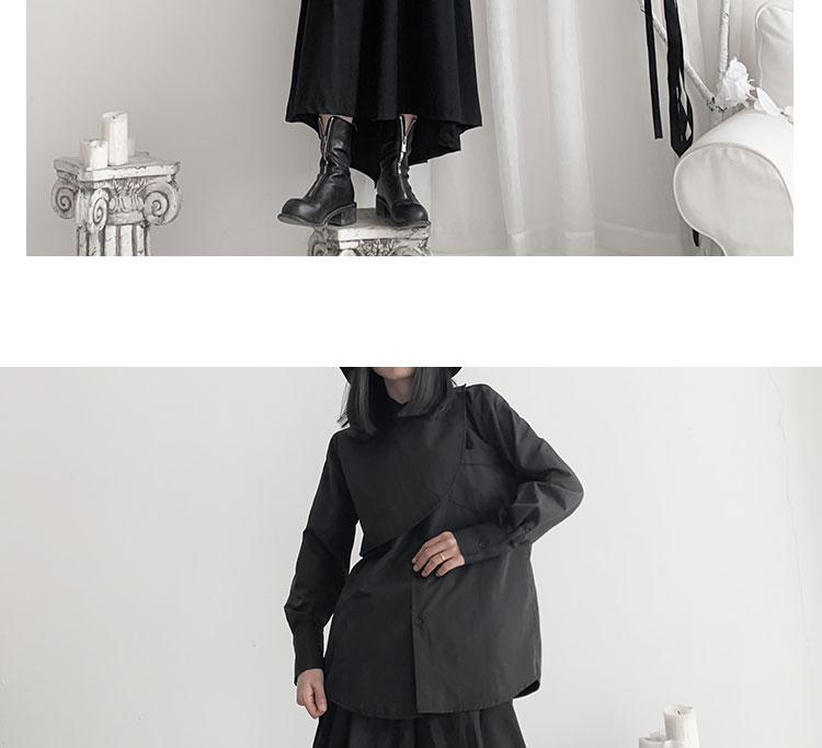 New Fashion Style Long Sleeve Black White Unique Blouse Shirt Fashion Nova Clothing