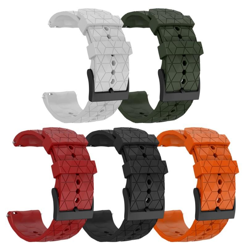 Silicone Strap For Suunto 9 Baro Copper 24mm Series Solid Color Waterproof Bluetooth Watch Bracelet Wrist Band Accessories