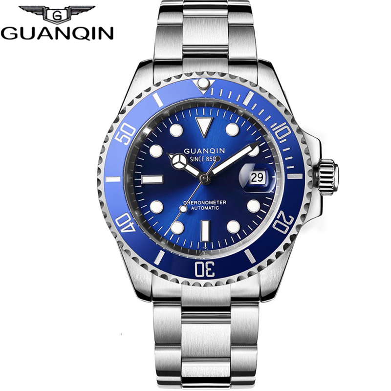 GUANQIN Mechanical Watch  Japan Movement Waterproof Men Watch Automatic Clock Top Luxury Ceramic Men Sapphire Relogio Masculino