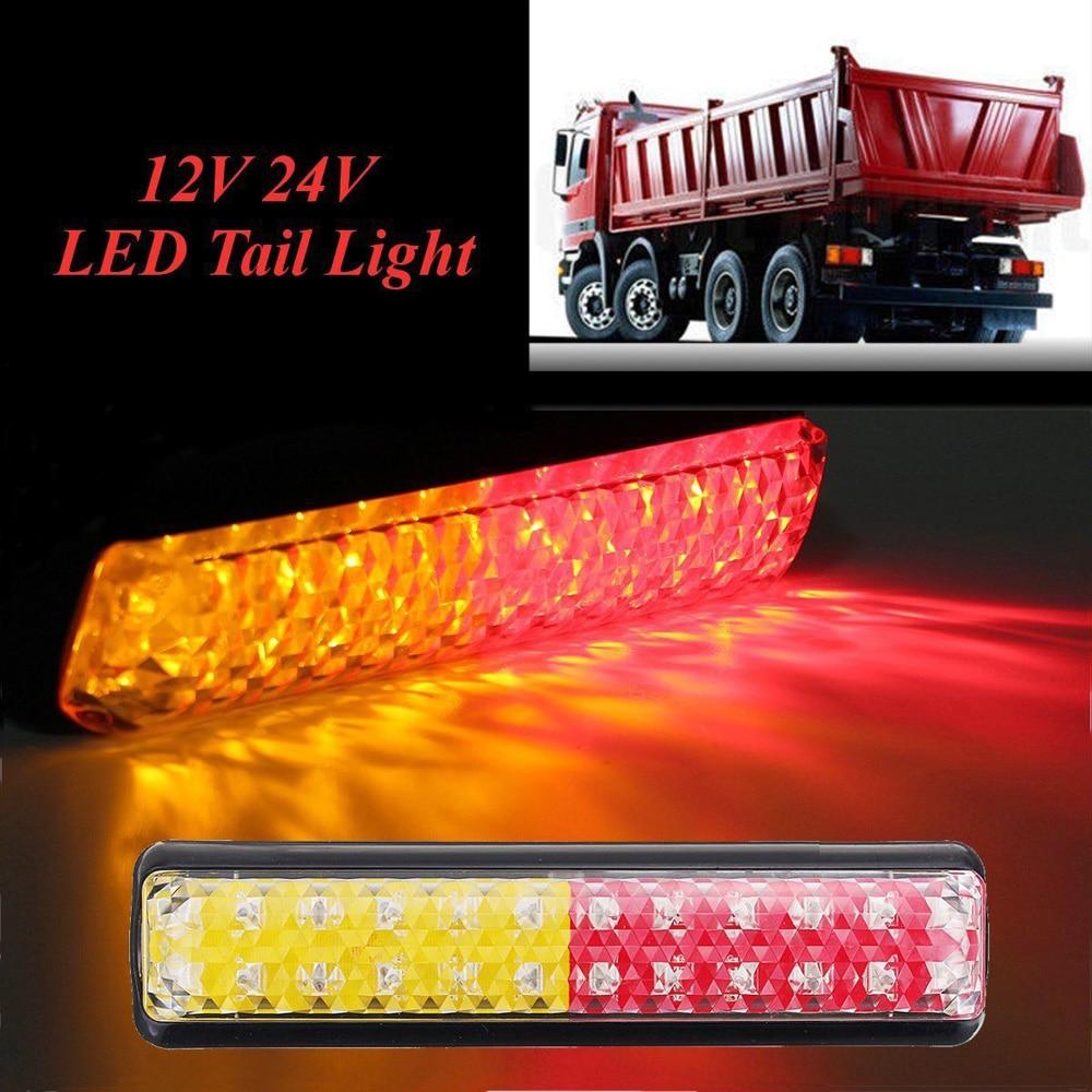DC 10-30V 24 LEDs Truck Trailer Stop Rear Tail Lights Caravan Car Truck Trailer LED Indicator Lamp Light