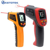 Infrared Thermometer Laser Pyrometer 600C 750C 950C Non-contact LCD IR Thermometer Gun Point Temperature Meter Backlight