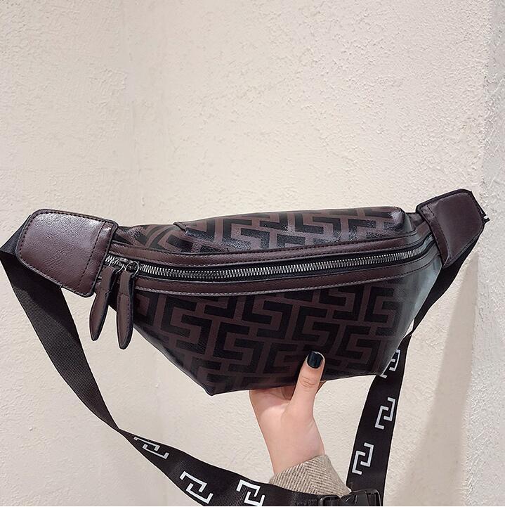 New Waterproof Waist Packs Bags Girls Travelling Chest Bags Stripe Double Zipper Waist Packs For Women Bags Designer Belt Bag