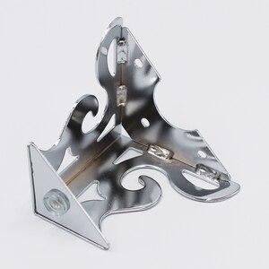 Image 3 - 4 قطعة أثاث معدني الأجهزة الساقين جوفاء أريكة القدم نمط أسود للتلفزيون خزانة الساقين دعم الأثاث واقيات زوايا معدنية