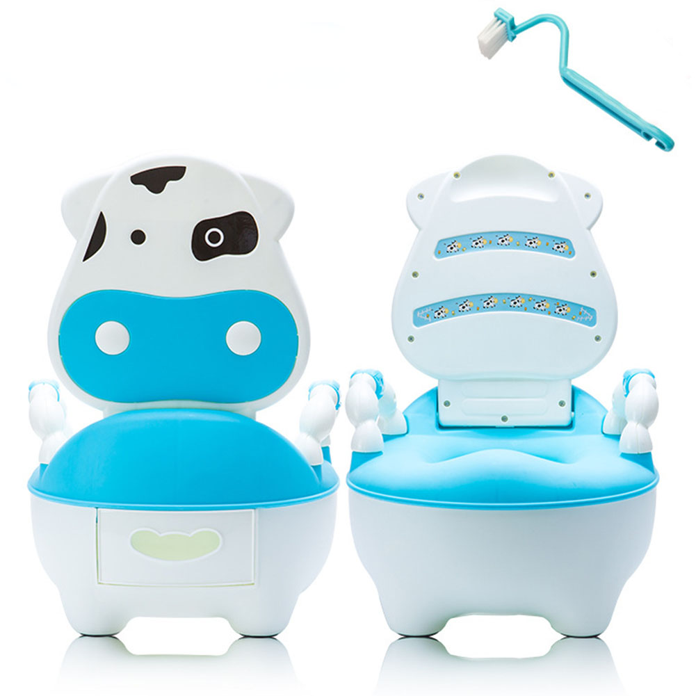 Cushion Cartoon Portable Seat Drawer Brush Dairy Cattle Training Pan Potty Baby Toilet