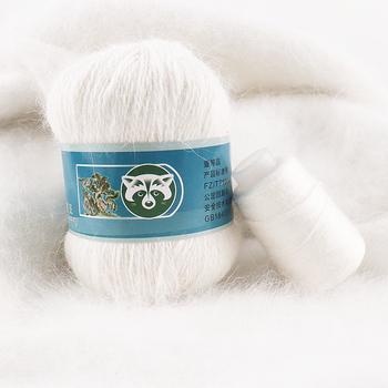 Drop Shipping 50 + 20 g zestaw długi pluszowy norek z kaszmiru przędza dobra jakość ręcznie nici dziewiarskie dla kobiety sweter szalik nadaje się пряжа tanie i dobre opinie ZLWXL Mink Cashmere yarn Czesankowej CN (pochodzenie) Inne przędzy Kaszmiru angora Ręcznie na drutach Knitting