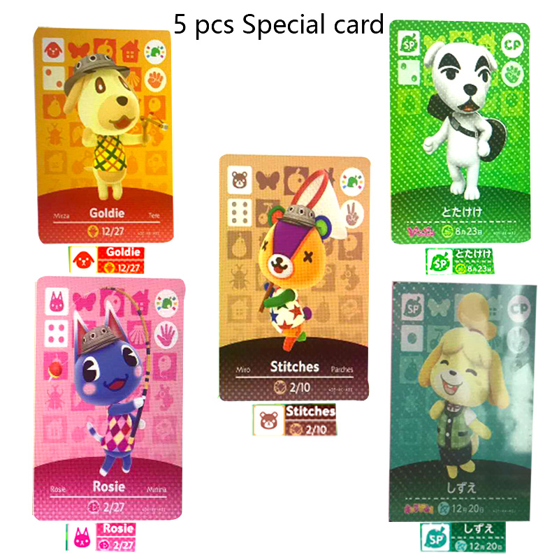 Special Animal Crossing Amiibo Locks Nfc Card Stitches 5 Pcs Latest Data