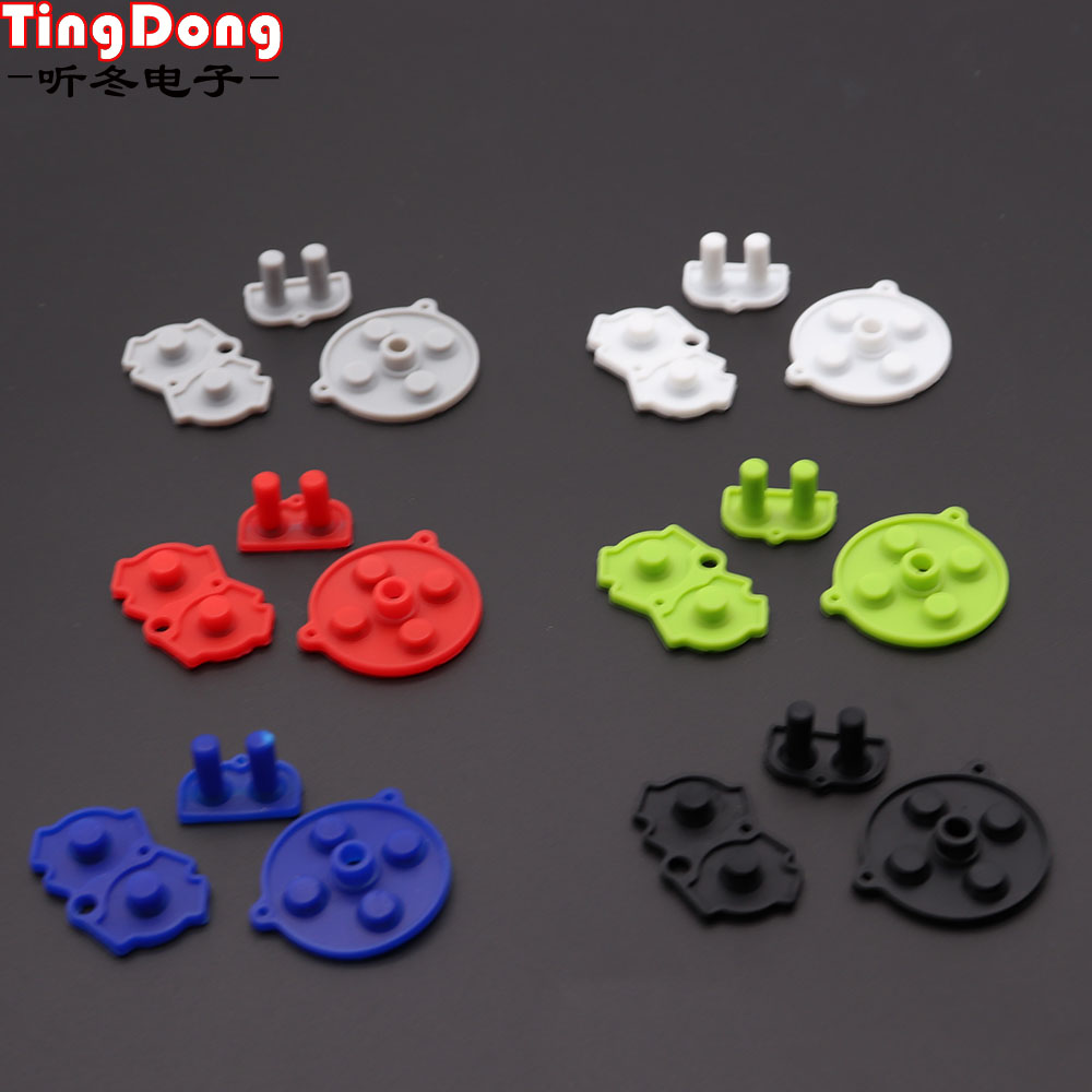 High Quality Colorful For Nintendo Game Boy GBA Advance Button Silicone Rubber Pad Conductive Contacts AB Select Start D pad image
