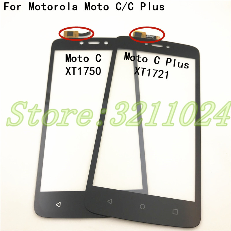 For Motorola Moto C XT1750 XT1754 XT1755 & Moto C Plus XT1721 XT1723 XT1724 Touch Screen Digitizer Front Glass Panel Sensor