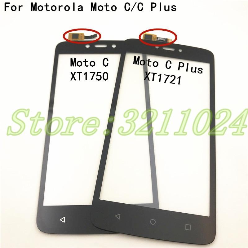 For Motorola Moto C XT1750 XT1754 XT1755 & Moto C Plus XT1721 XT1723 XT1724 Touch Screen Digitizer Front Glass Panel Sensor