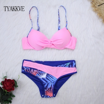 2020 Sexy Bikini Swimwear Women Push Up Swimsuit Bikini Set Brazilian Summer Cut Out Beach Bathing Suits female Biquini Print 5