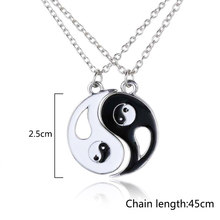 TT-18 Friendship Forever Yin Yang Gift Trendy Men Best Friend Women Unisex Couples Jewelry Silver Chi BFF Necklace Pendant(China)