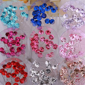 Hair-Pins Hair-Accessories Strass Rhinestone Crystal Silver Wedding-Bridal Girls Women