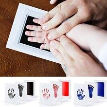 Non-Toxic Newborn Baby Handprint Footprint Imprint Kit Child Footprint Ink Pad Kids Souvenirs Gift Baby Care Accessories