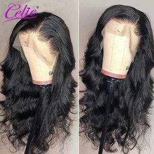 Image 2 - Celie vücut dalga dantel ön peruk s 28 30 inç dantel ön peruk 360 dantel ön peruk siyah kadınlar için 13x6 dantel ön İnsan saç peruk