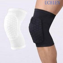 Professional Breathable Sports Men Honeycomb Knee Support Brace Pad Protector Basketball Leg Sleeve Kneepad B2Cshop