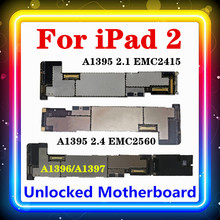 For IPad 2 Motherboard WIFI Version A1395 (EMC 2415,EMC 2560),IOS Installed Original Replaced Clean Board WIFI+3G A1396/A1397