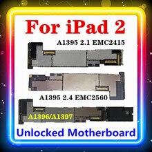 Placa base para IPad 2, WIFI, versión A1395 (EMC 2415,EMC 2560),IOS instalado, Original reemplazada, placa limpia, WIFI + 3G, A1396/A1397