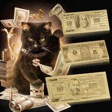 Прямая поставка, новинка, банкноты из американской золотой фольги на 100 долларов США, банкноты за ненастоящие деньги, реквизит для долларов ...