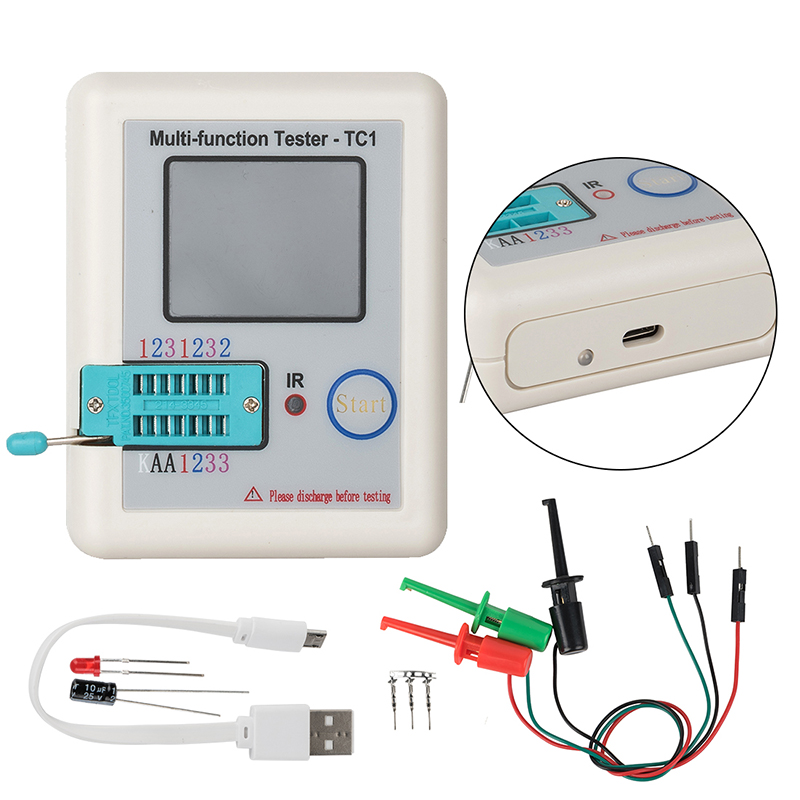 LCR-TC1 3.5inch Colorful Display Multifunctional TFT Backlight Transistor Tester 3.5inch Screen Multifunction Transistor Tester