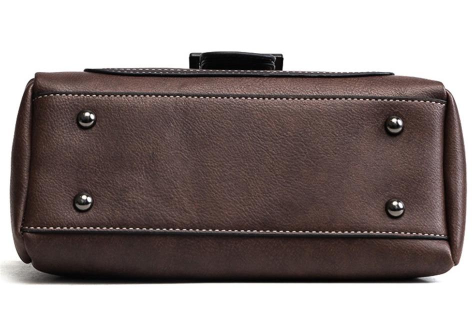 bolsa de couro do vintage fosco bolsas