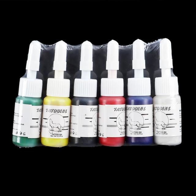 Tattoo Ink 6Pcs Body Painting Permanent Microblading Pigment Tattoo Ink Set  Body Art Tattoo Supplies Eyebrows Lip Makeup 4