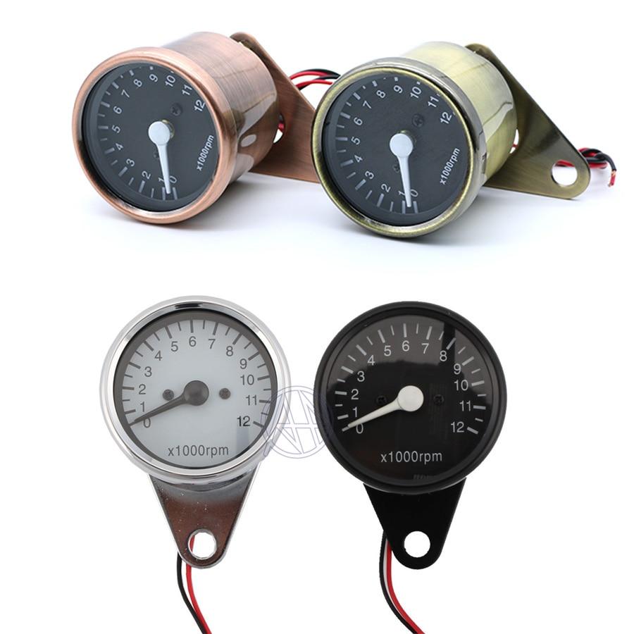 Universal Motorcycle 12V LED Digital Backlight 12K RPM Gauges Cluster Speedometer Tachometer Meter Odometer Instrument Assembly