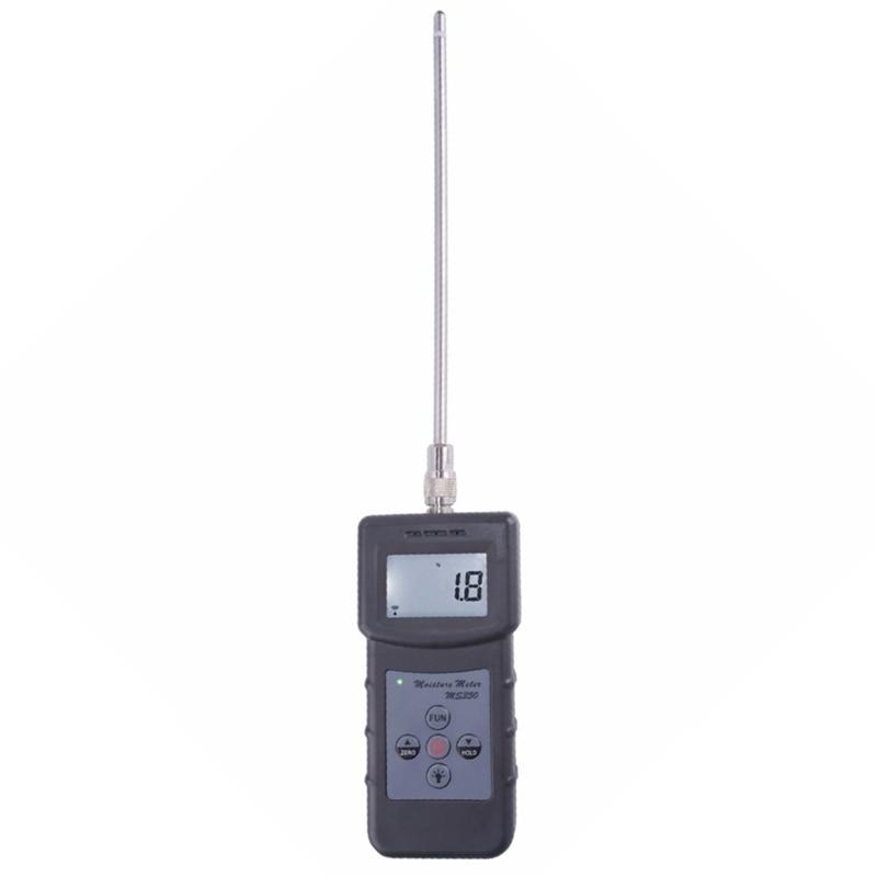 Gamme de mesure 0-80% Ms350 Portable numérique capacitif chimique matières premières humidimètre