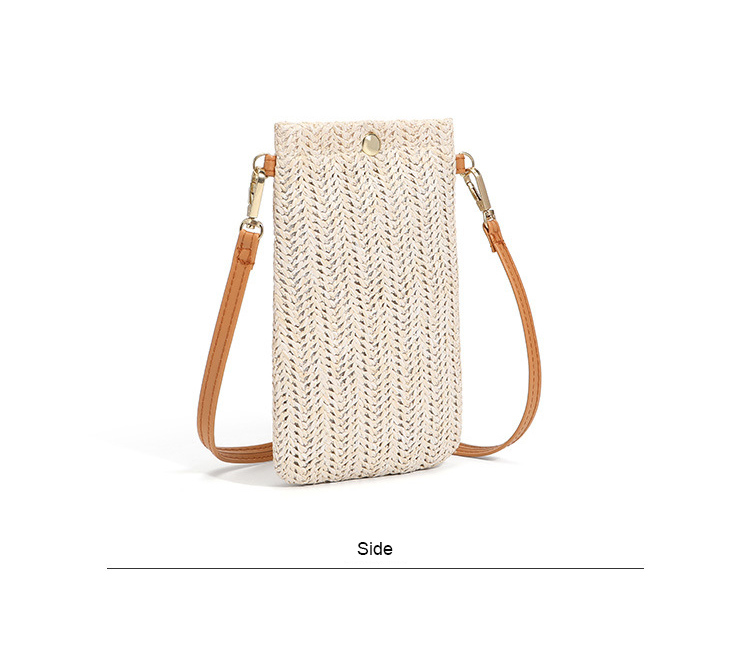 Mini Size Straw Bucket Bag with Leather Strap for Summer 2021