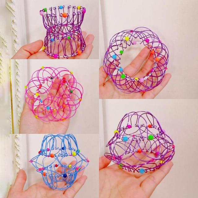 Adult Children Anti-stress Toy Mandala Decompression Toy Variety Flower Basket Thirty-six Softened Steel Ring Fidget Toy Gift 1