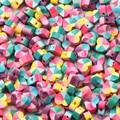 50/100 шт 10 мм Смешанные под искусственные бриллианты, разноцветные стразы образуют форму сердца бусины из полимерной глины Полые бусины Своб...