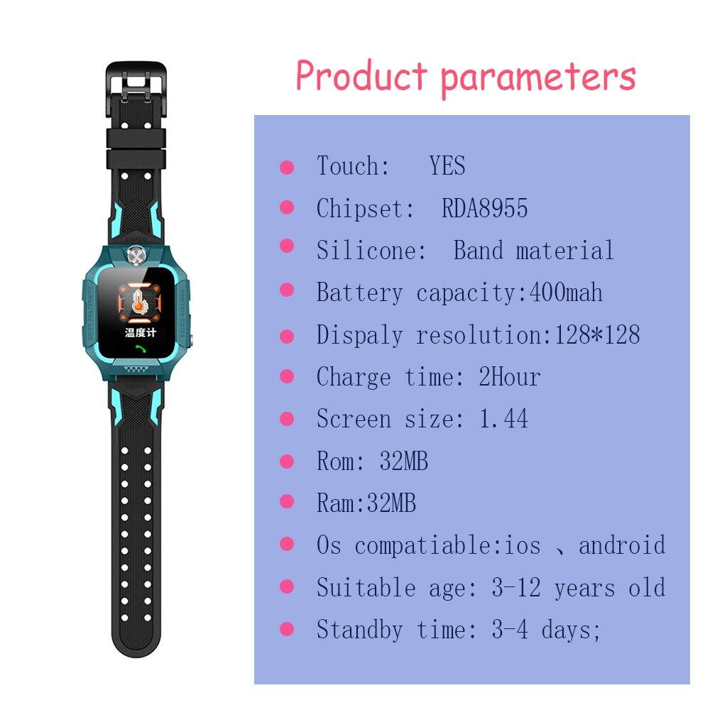 Ребенокизмерение температуры тела с умные часы позиционирования часы телефонных звонков детские наручные часы