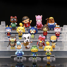 16 unids/lote Animal Crossing lindo anime Nintendo interruptor juego Tom Nook K.K Isabelle figuras en miniatura de juguete niños regalo de Navidad juguetes del bebé