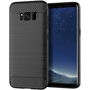 Image 1 - Funda de silicona para teléfono Samsung Galaxy S8 Plus, funda de fibra de carbono suave, parachoques galays8 S 8 S8Plus 8 Plus SM G950F G955F SM G950