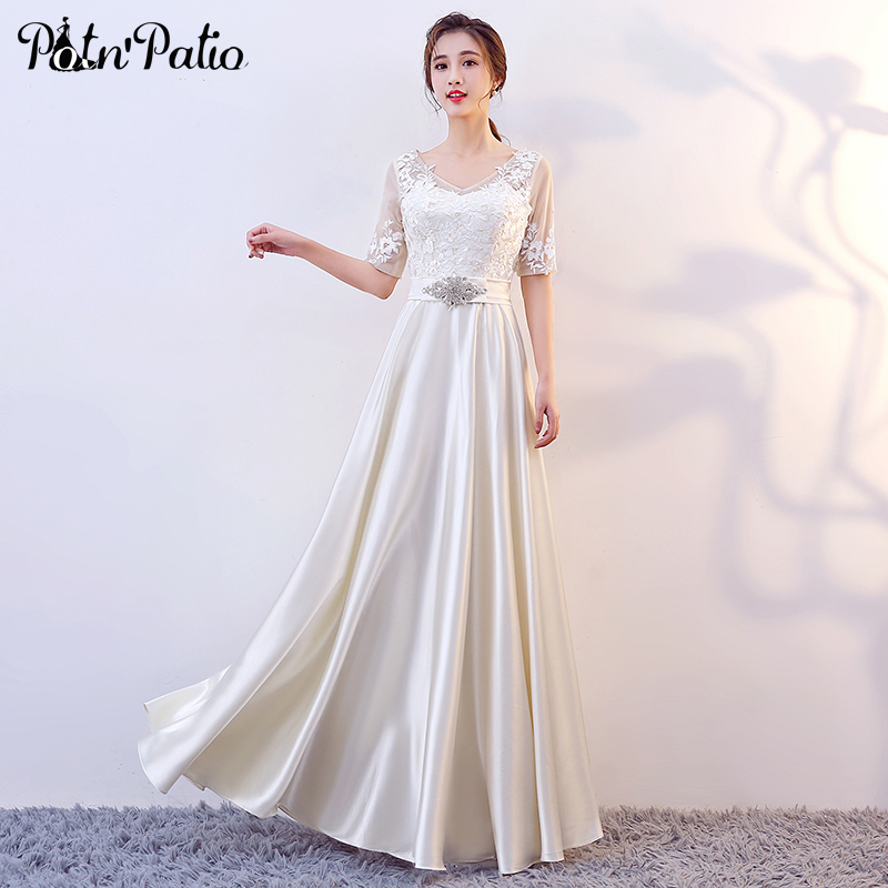 Plus Size Red   Prom     Dresses   Long 2019 V-neck Floor-length Evening Gowns With Sleeves Shiny Sequined Lace Evening   Dresses